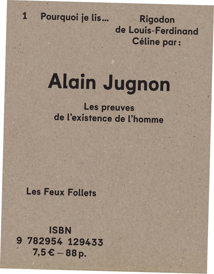 Alain Jugnon - Rigodon - couverture