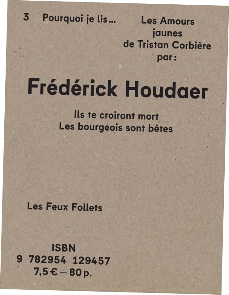 Frédérick Houdaer - Les Amours jaunes - couverture