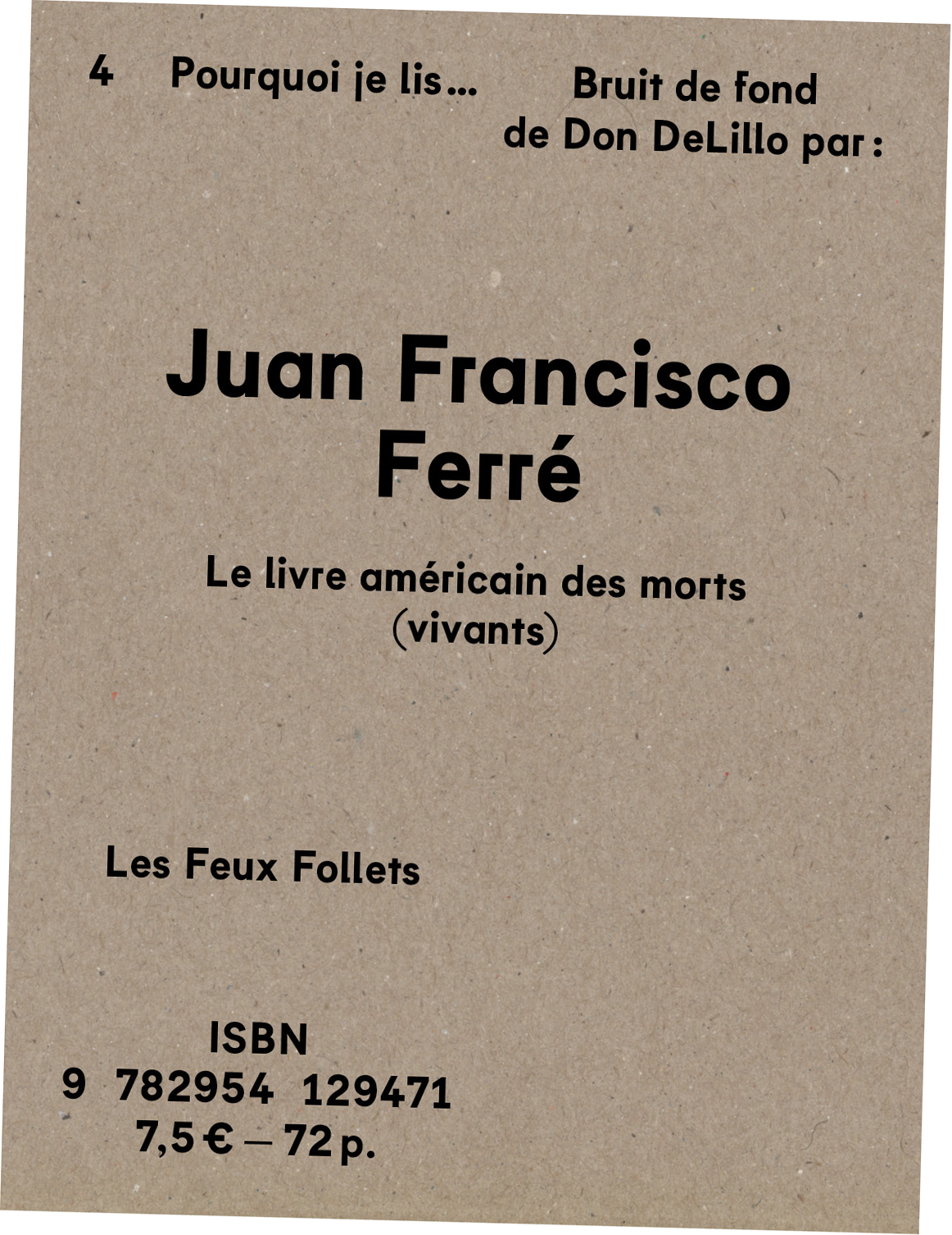 Juan Francisco Ferré - Bruit de fond - couverture