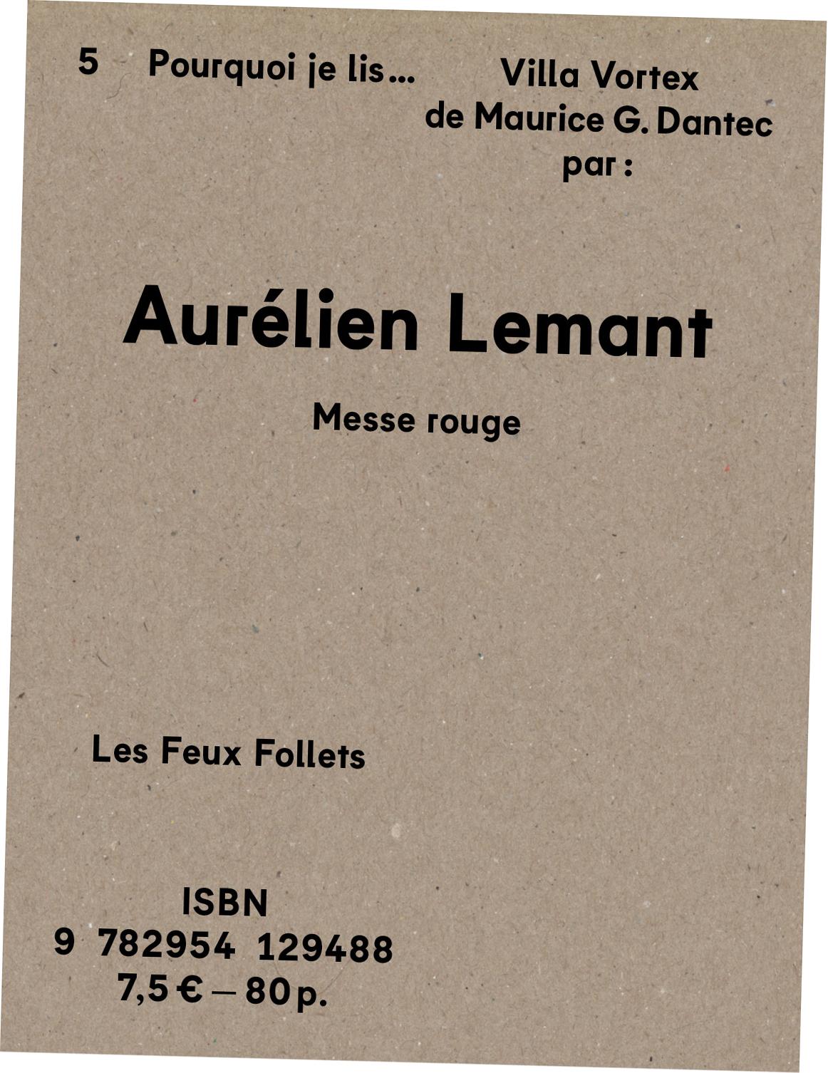 Aurélien Lemant - Villa Vortex - couverture