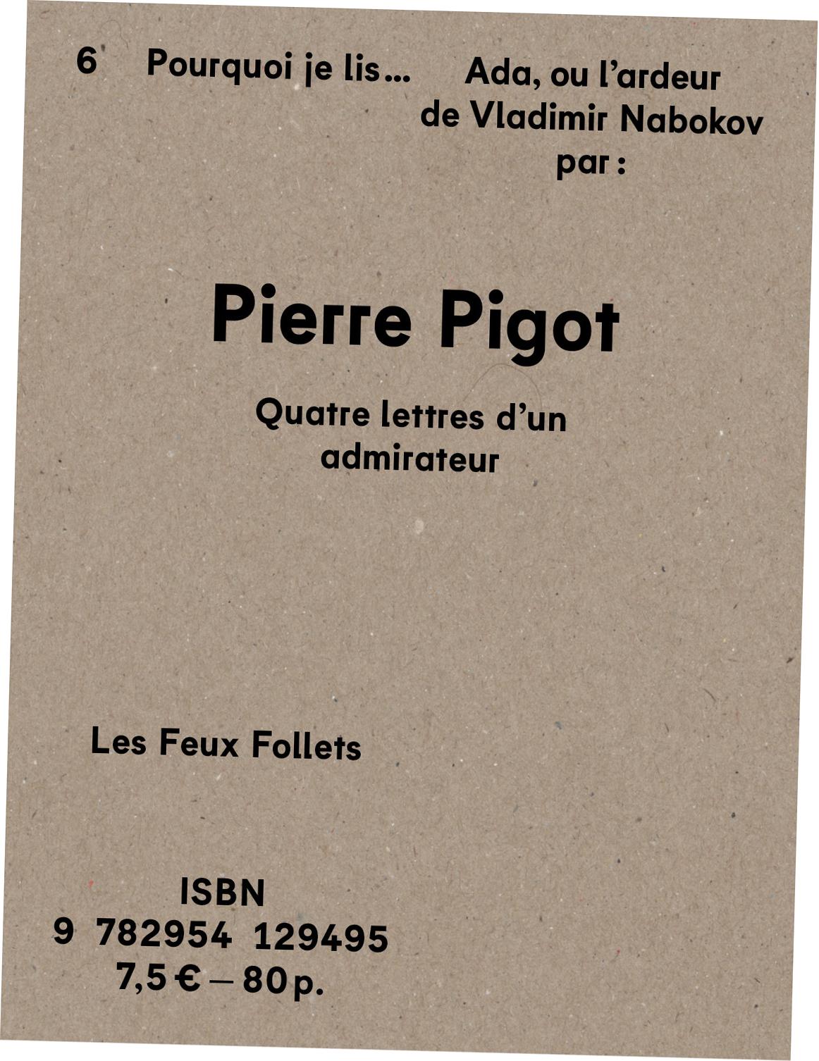 Pierre Pigot - Ada ou l'ardeur - couverture